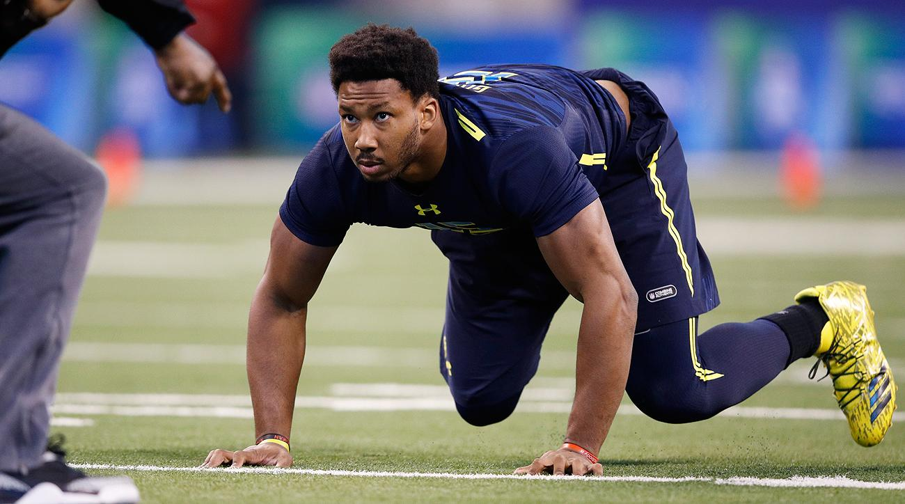Myles Garrett's size, speed and strength were on display at the combine, and that combination makes him an easy evaluation for NFL scouts.