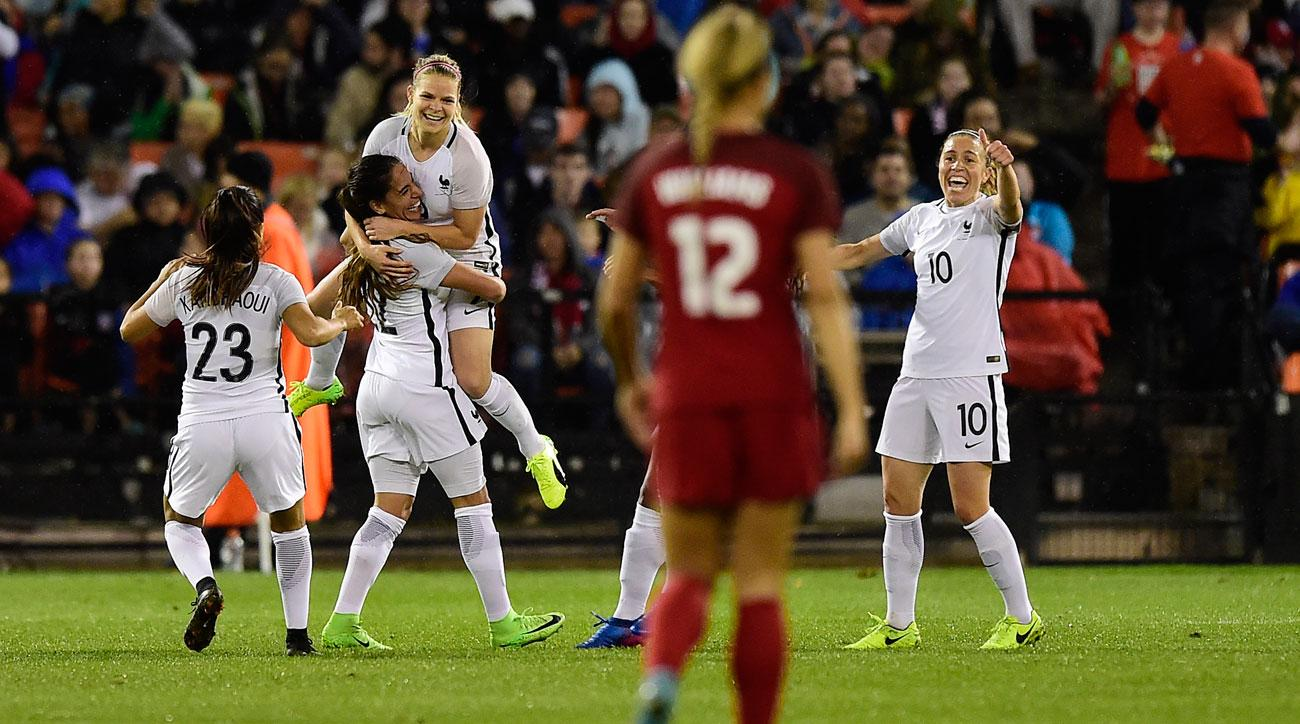 France beats the USA in the SheBelieves Cup