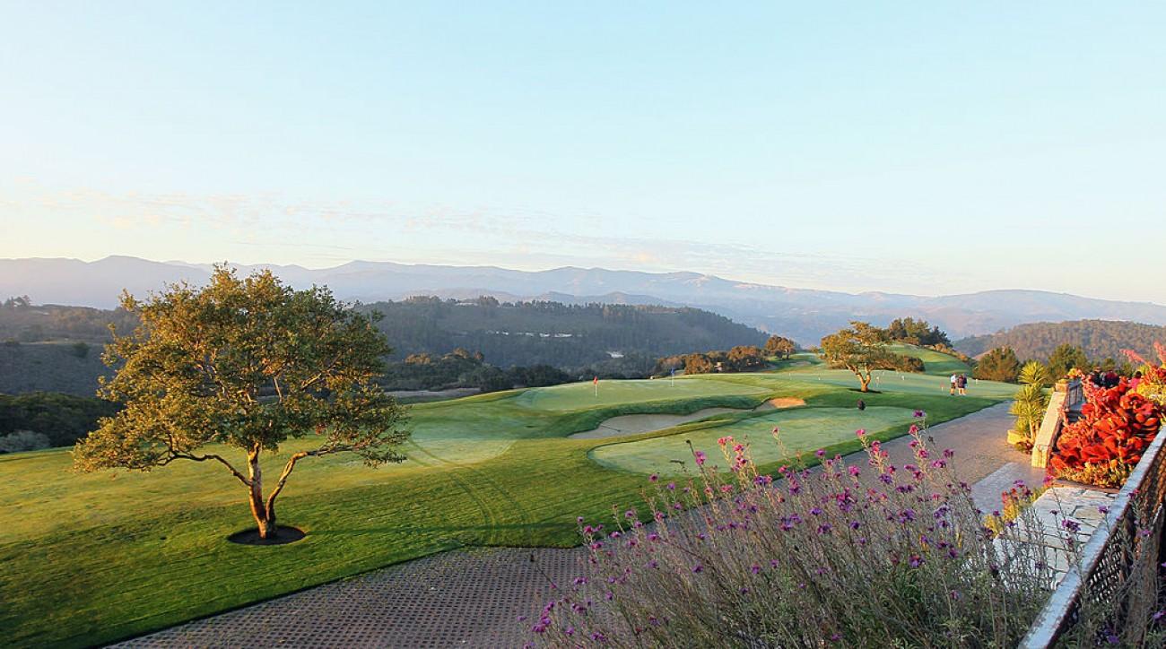 A view of Clint Eastwood's Tehama Golf Club in Carmel, California.