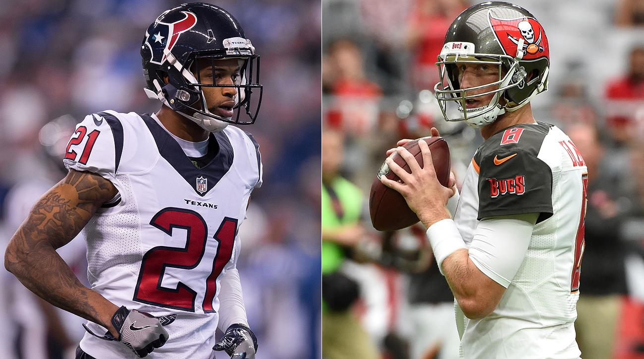 A.J. Bouye (left) and Mike Glennon figure to strike it rich with free agency set to open.