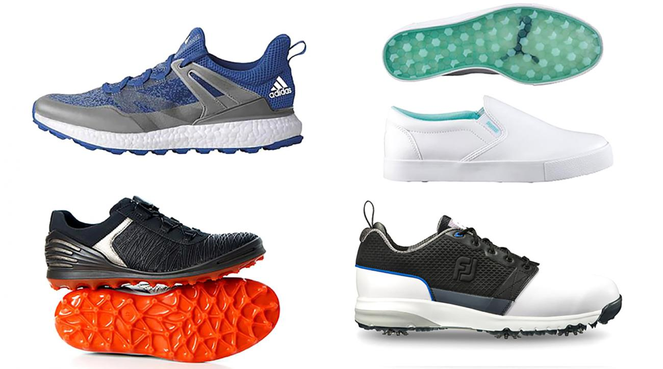 New golf shoes for women and men from Adidas, Ecco, Puma and FootJoy.