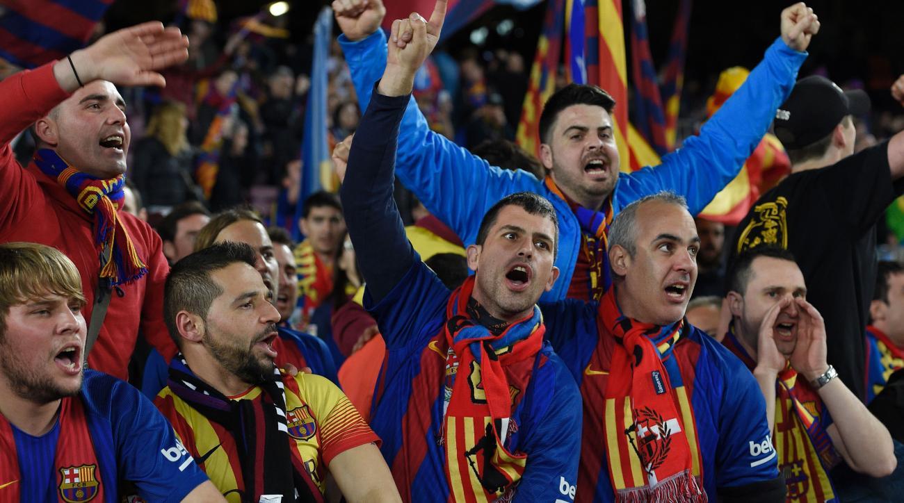 Barcelona-PSG comeback: Fan videos inside Camp Nou