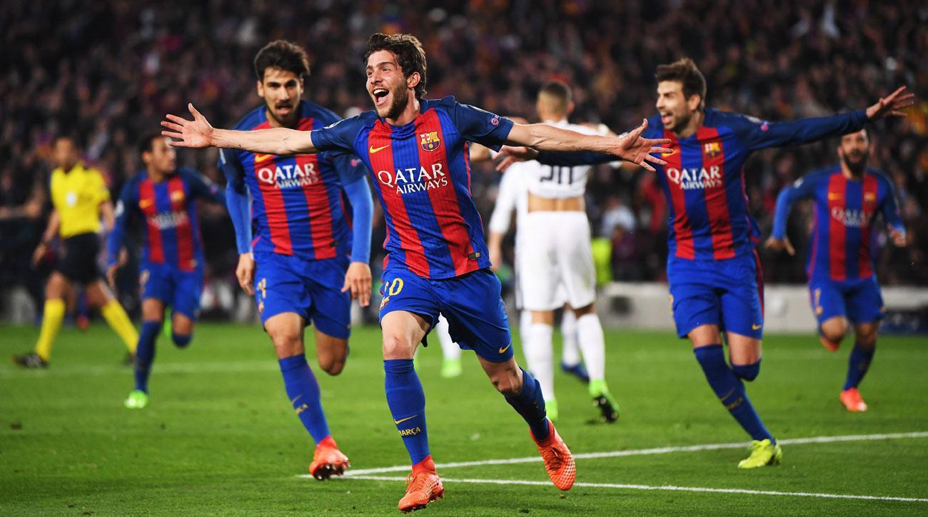 Sergi Roberto scores the stunner for Barcelona vs. PSG