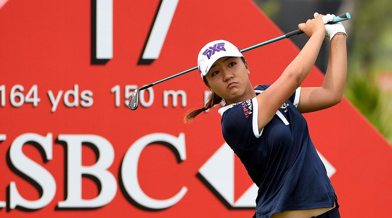 Lydia Ko of New Zealand on the 17th tee during the third round of 2017 HSBC Women's Champions.