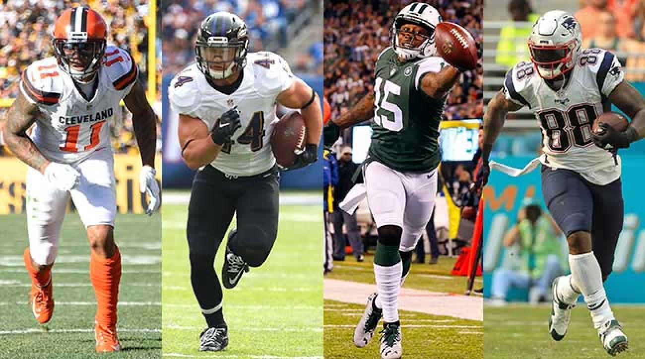 NFL signings Terrelle Pryor (Washington), Kyle Juszczyk (Buffalo), Brandon Marshall (N.Y. Giants) and Martellus Bennett (Green Bay)