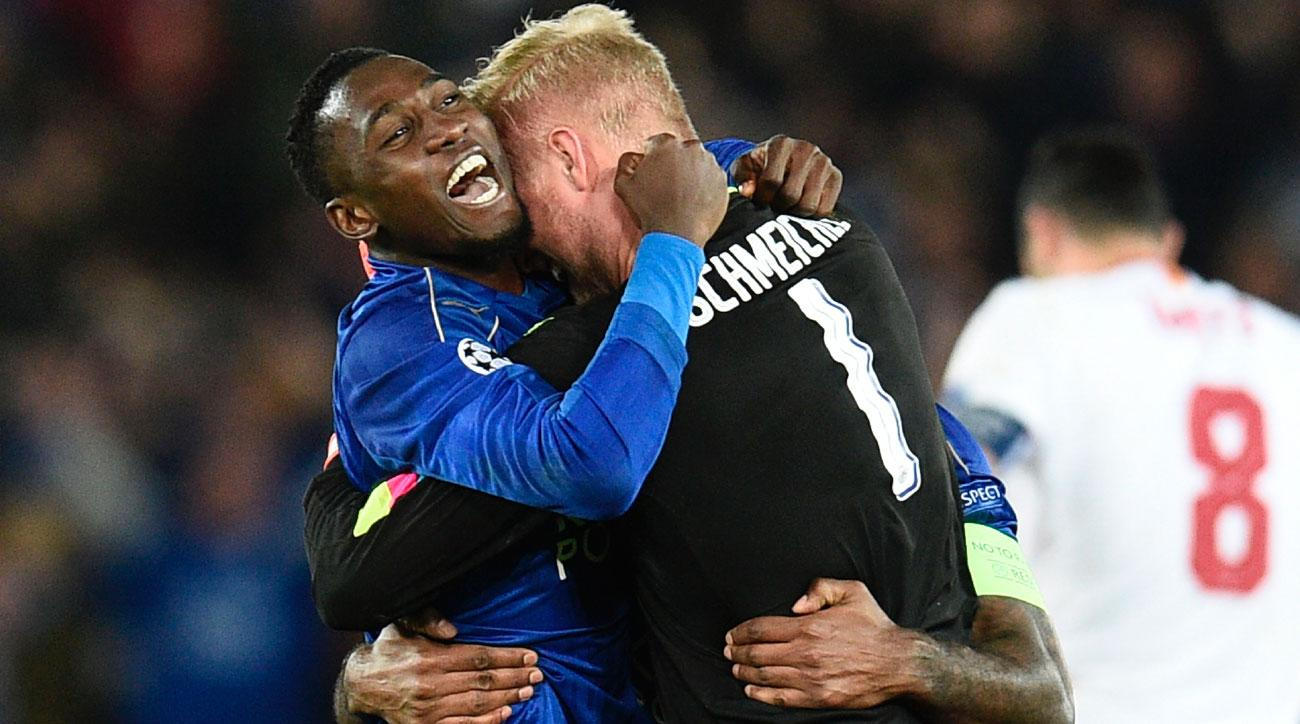 Leicester City stuns Sevilla to reach the Champions League quarterfinals