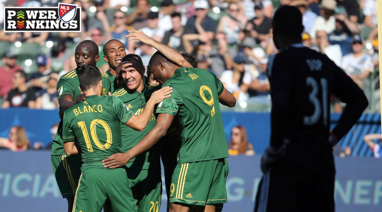 The Portland Timbers beat the LA Galaxy 1-0 in MLS