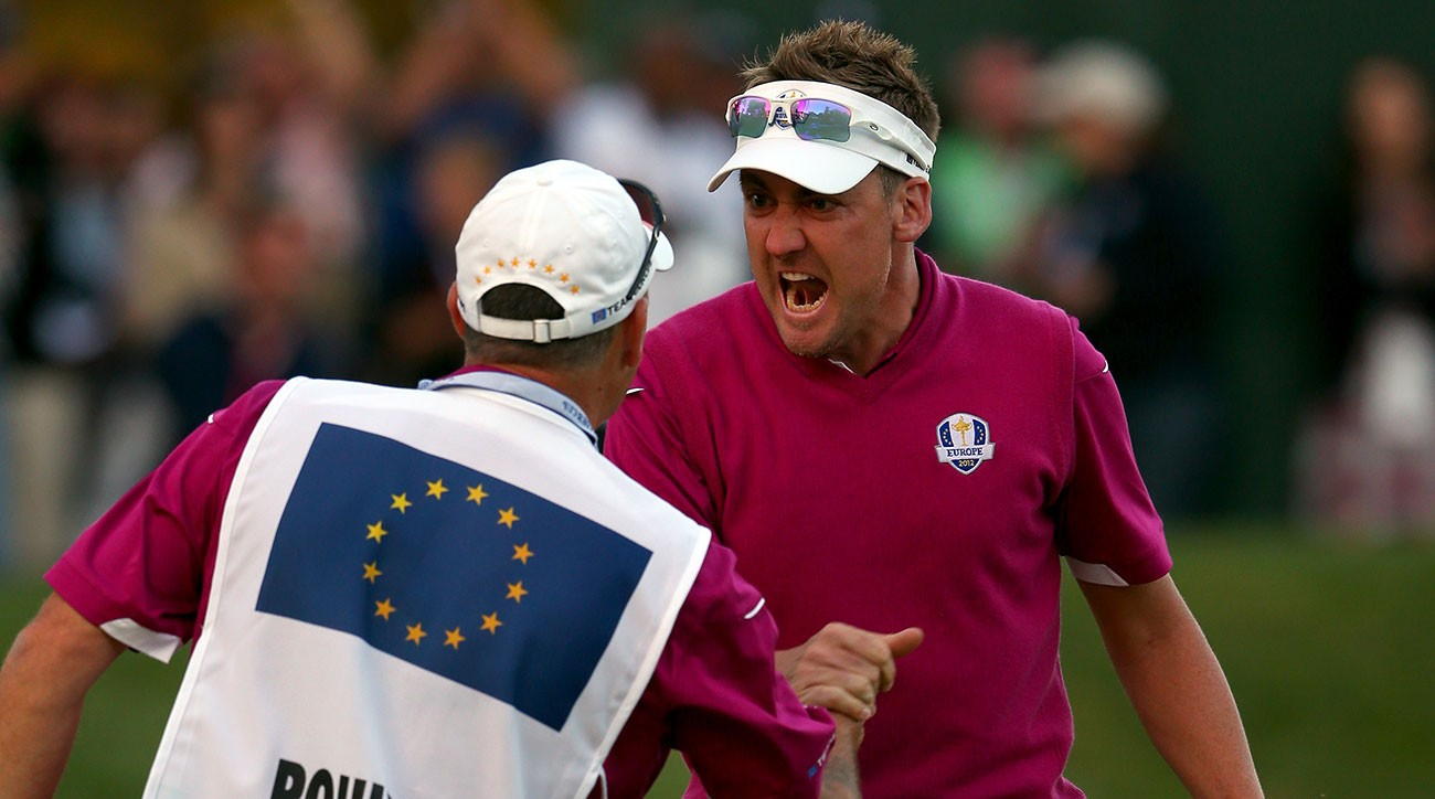 Ian Poulter string of birdies during the Saturday afternoon four-ball matches at the 2012 Ryder Cup helped Europe mount a miracle comeback at Medinah.