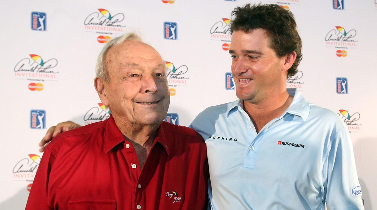 Arnold Palmer and Sam Saunders at the 2015 Arnold Palmer Invitational.