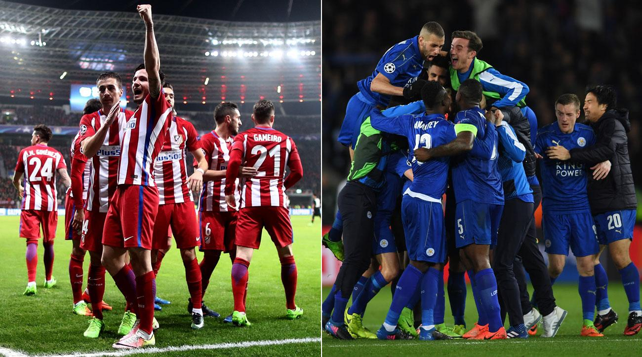 Atletico Madrid will play Leicester City in the Champions League quarterfinals