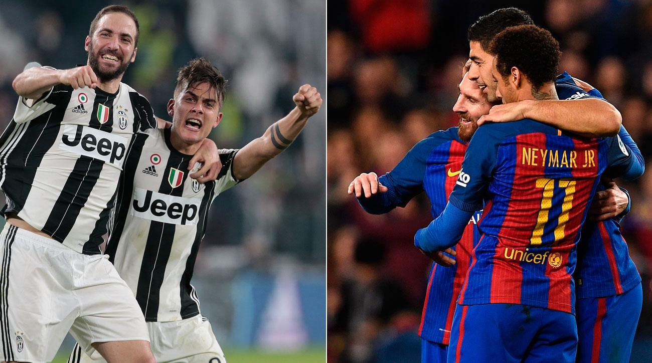 Juventus plays Barcelona in the Champions League quarterfinals