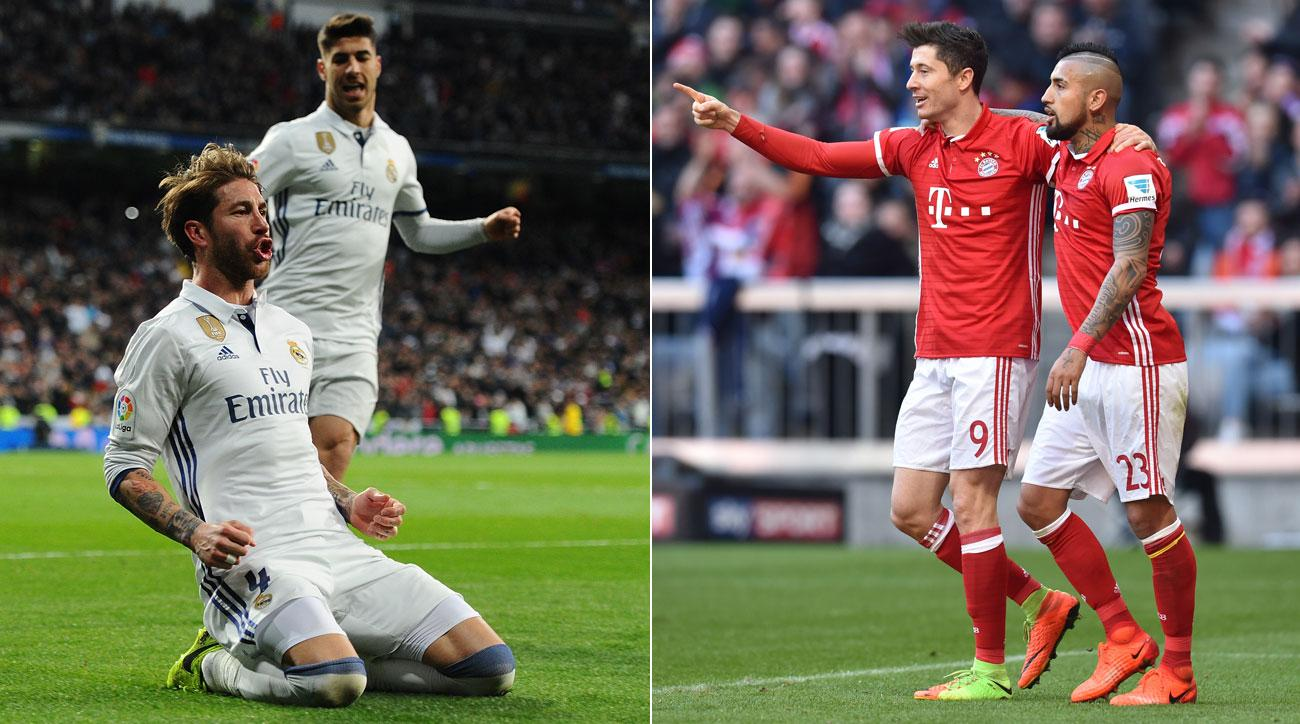Bayern Munich and Real Madrid will play in the Champions League quarterfinals