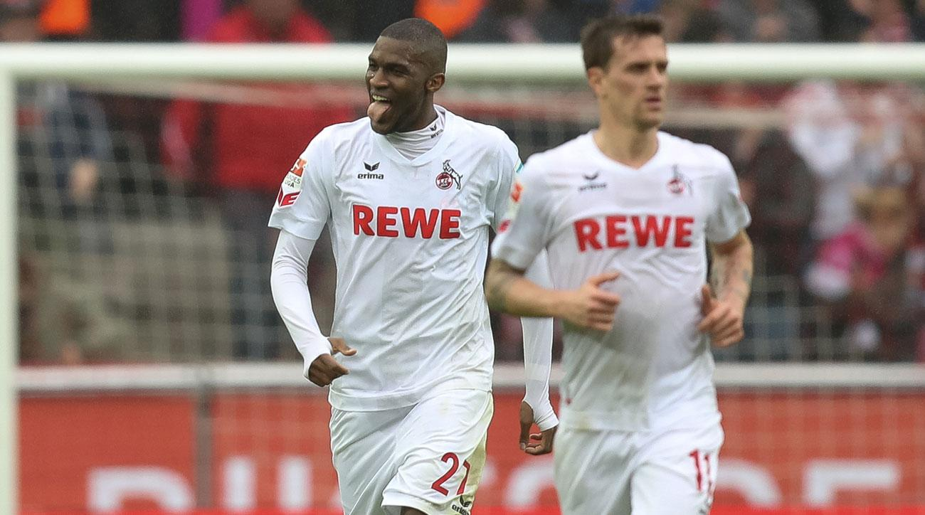 Anthony Modeste scored a hat trick for Cologne