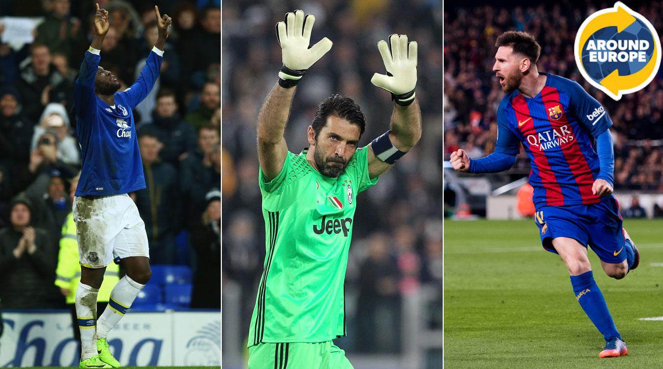 Romelu Lukaku, Gianluigi Buffon and Lionel Messi starred over the weekend