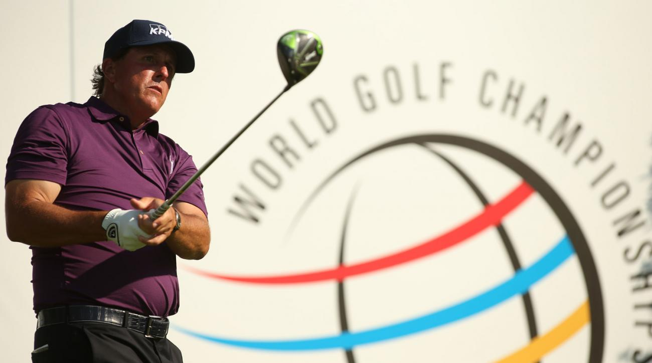 Phil Mickelson won his first-round match Wednesday at the Match Play.