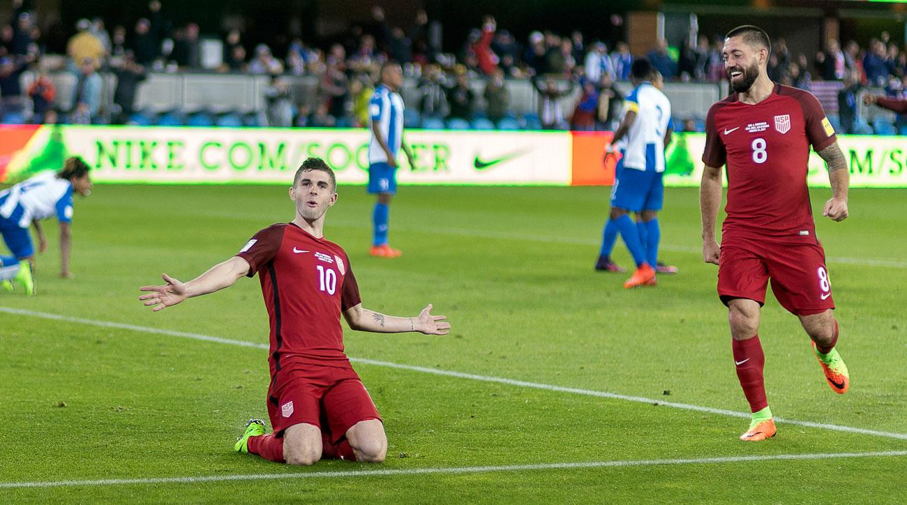 Clint Dempsey and Christian Pulisic combined to lead the USA vs. Honduras