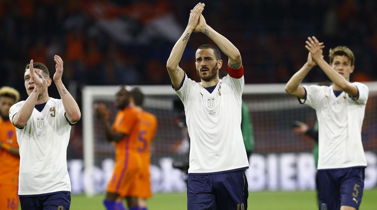 Italy beats Netherlands 2-1 in a friendly