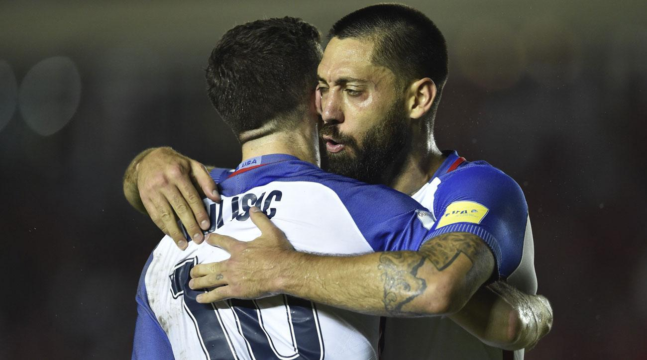 Christian Pulisic and Clint Dempsey combine for another goal in the USA's 1-1 draw vs Panama