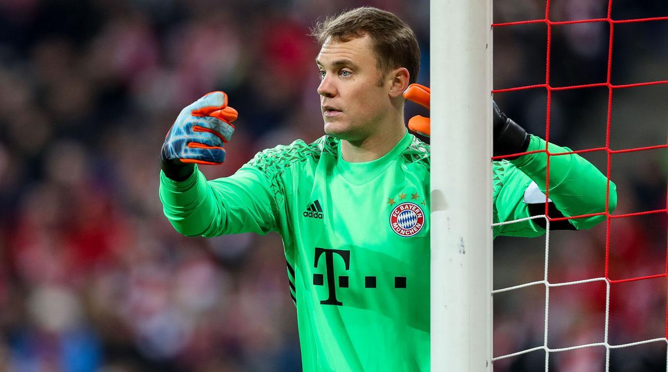Bayern Munich goalkeeper Manuel Neuer will miss a couple of games