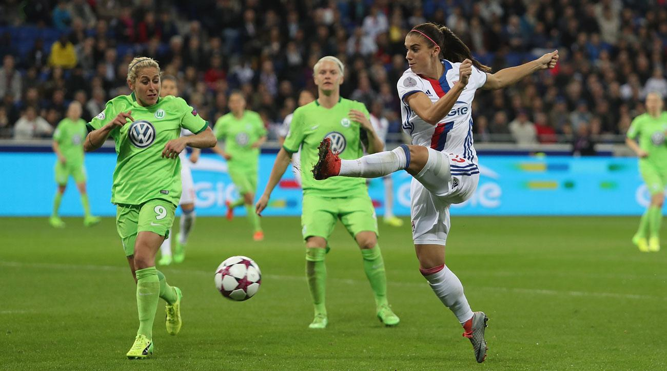 Alex Morgan and Lyon will meet Carli Lloyd and Manchester City in the Champions League semifinals