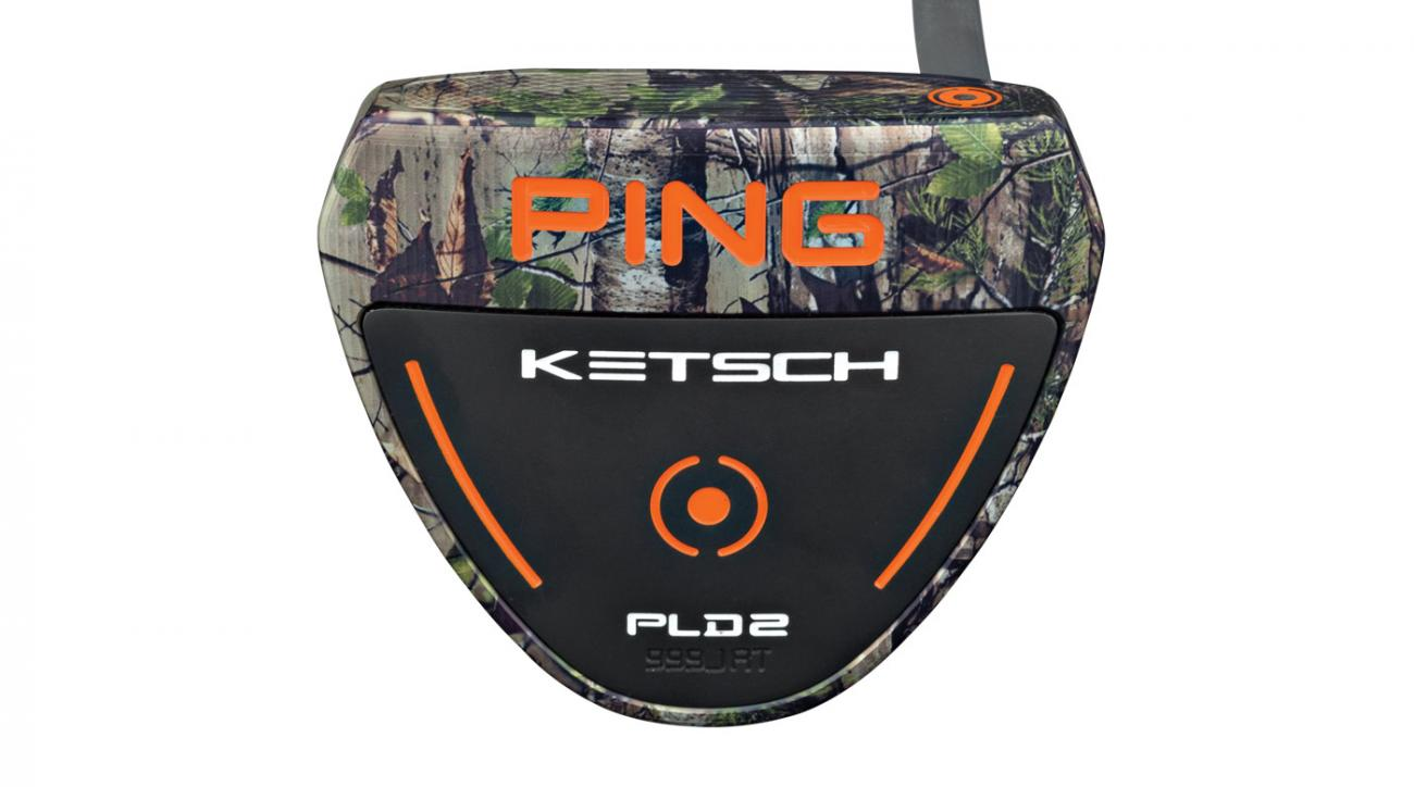 The Ping Camo Ketsch Realtree Xtra putter.