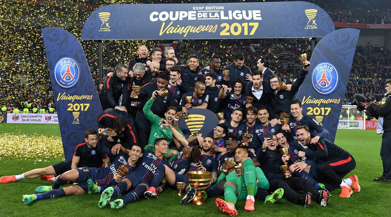 PSG routs Monaco to win the French League Cup