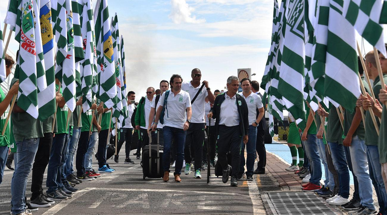 Atletico Nacional arrives to play Chapecoense in the Recopa Sudamericana