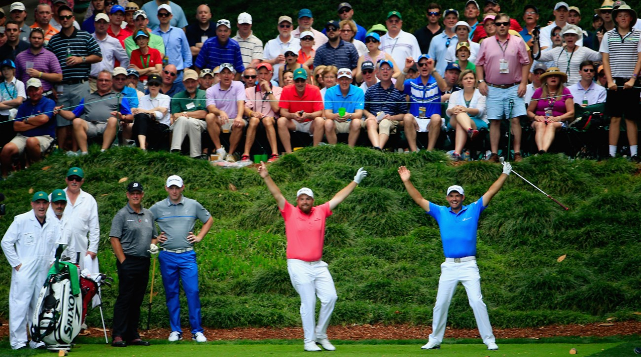 A near-miss during the Par-3 contest had Shane Lowry, Padraig Harrington and the crowd on the edge of some Augusta National magic.