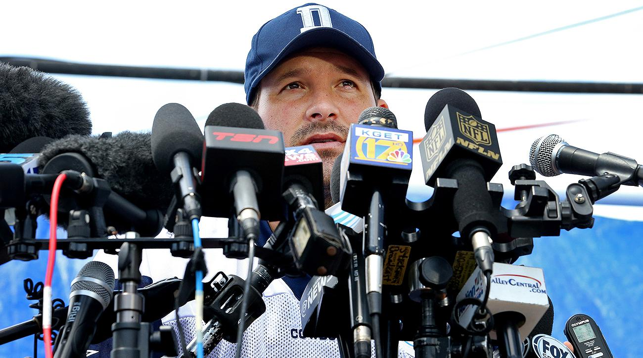 Tony Romo will be behind a different kind of microphone in his new job.