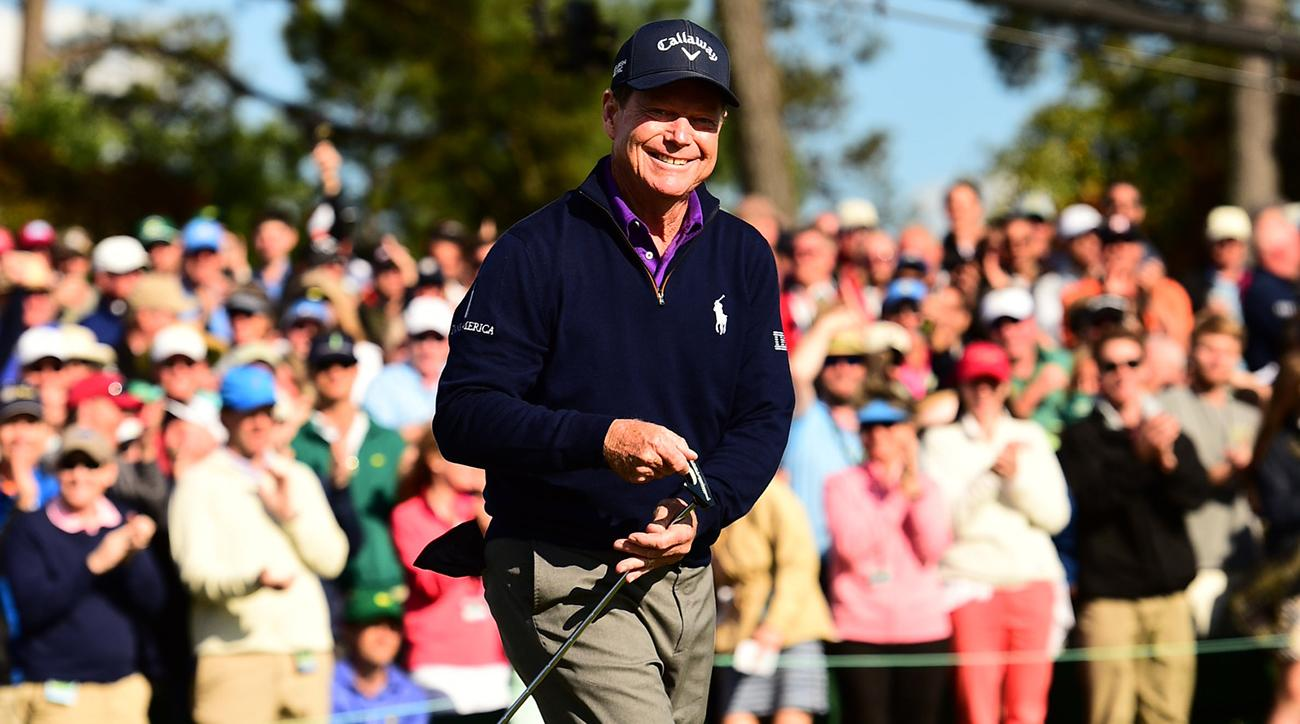 Tom Watson, shown in his last Masters in 2016, still can't stay away from Augusta National during this special week.