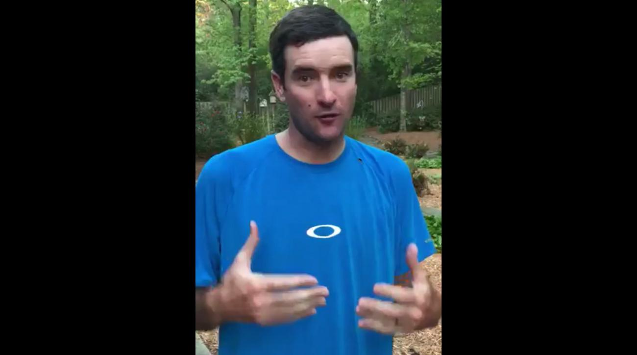 Bubba Watson in his Twitter apology video.