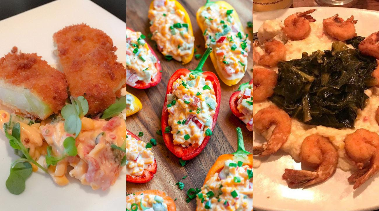 See below for photos of these pimento cheese dishes and more.