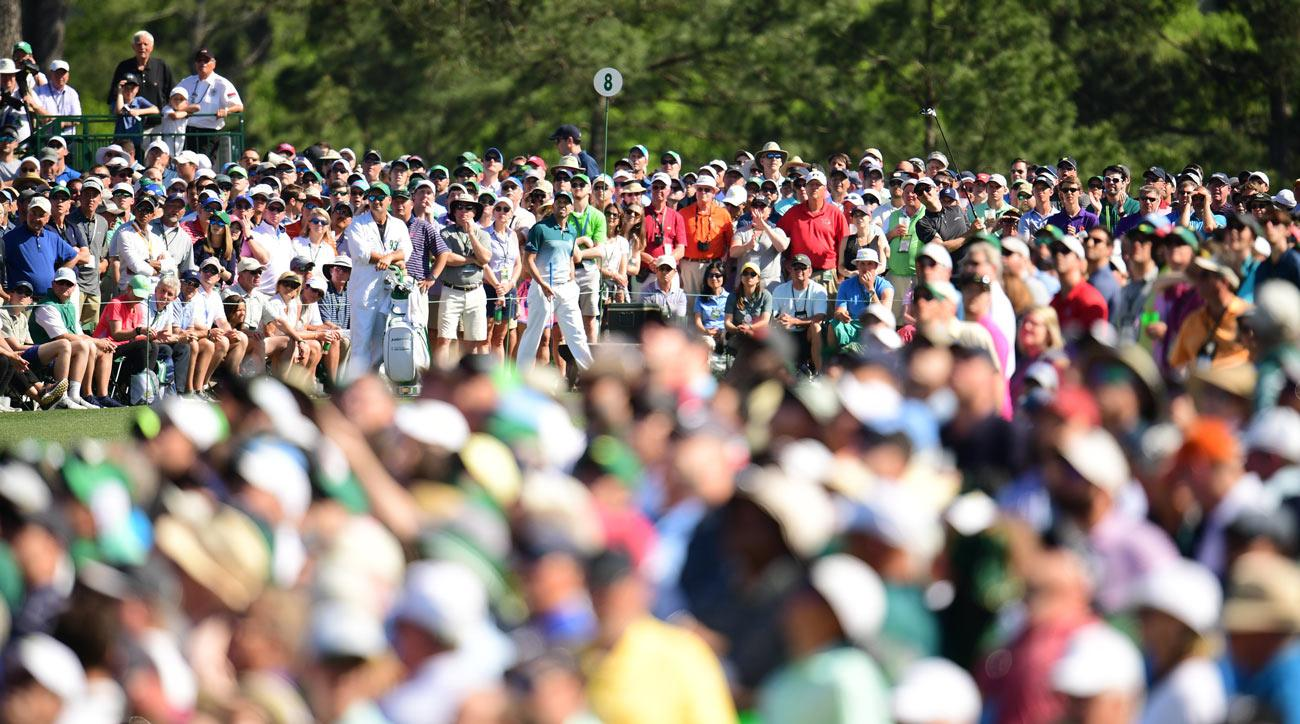 Justin Rose and Sergio Garcia on Sunday at the Masters.