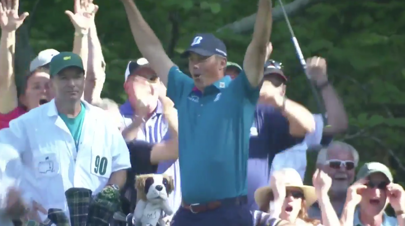 Matt Kuchar induced the greatest roar of the 2017 Masters thus far with an ace on the 16th hole.