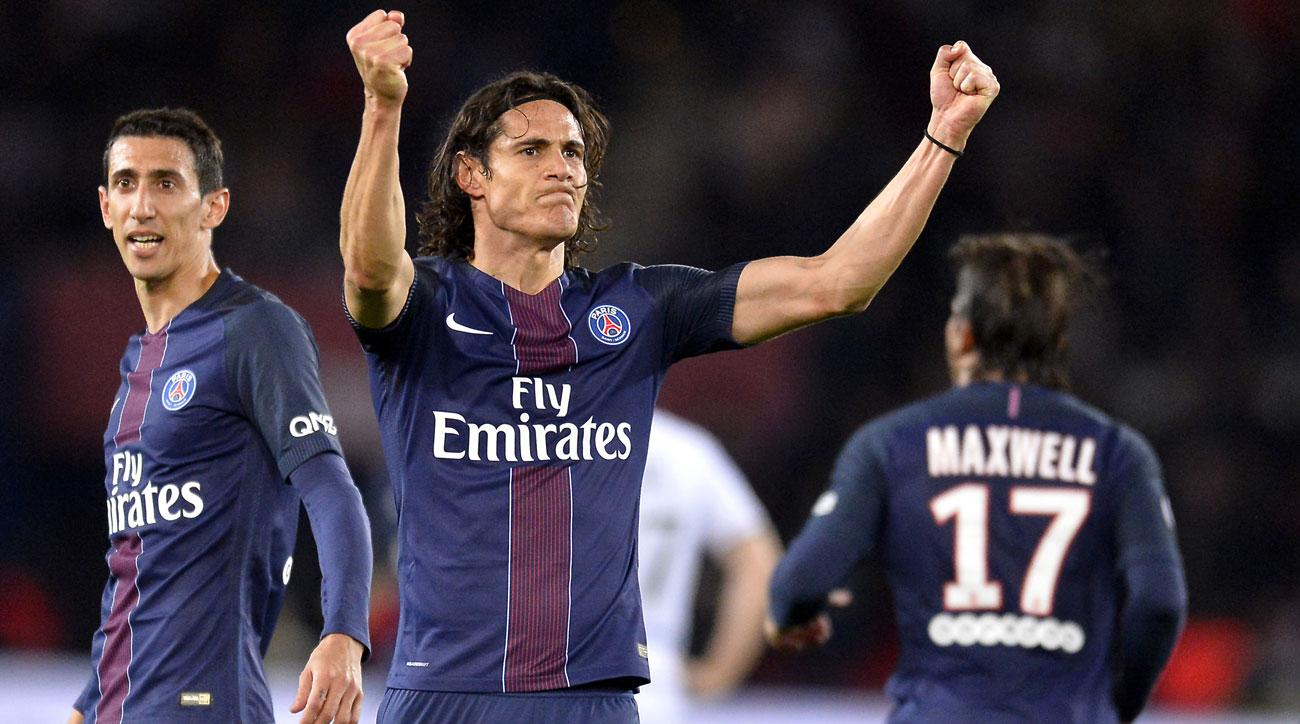 Edinson Cavani scored two more goals for PSG