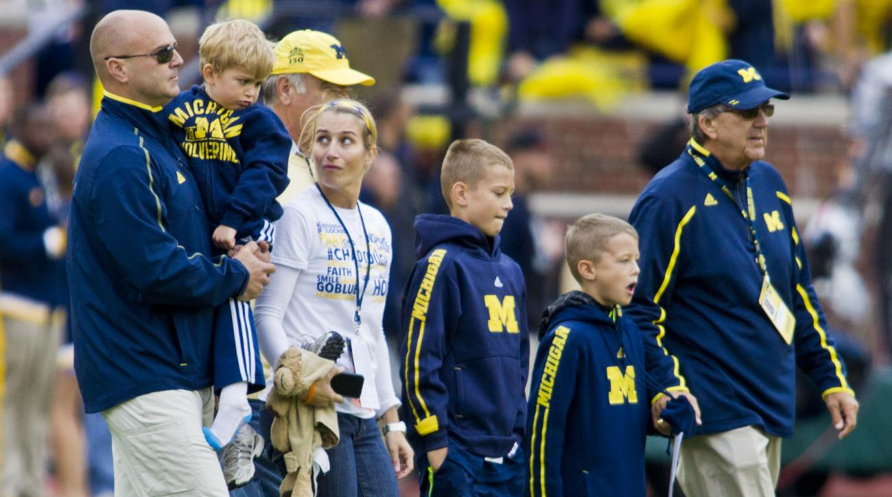 Pictures of late grandson of retired Michigan coach stolen
