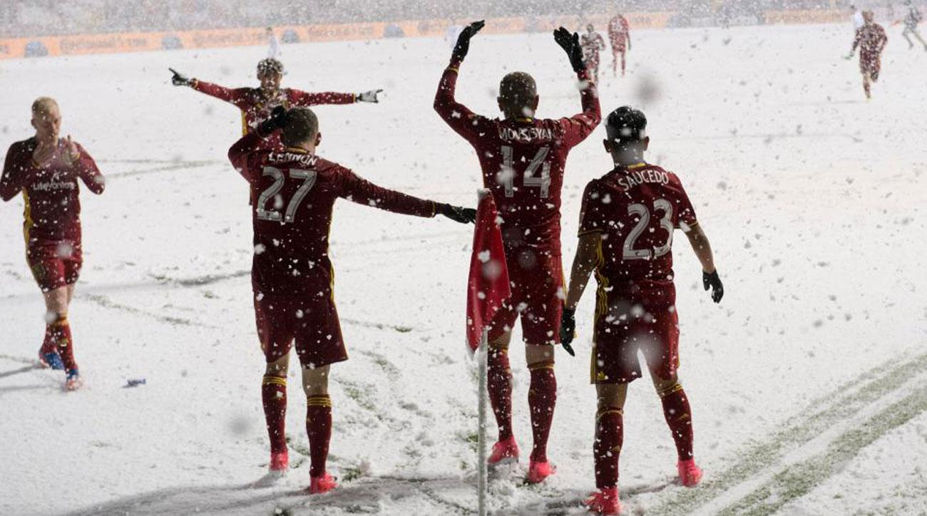 Real Salt Lake wins in a snowstorm at Rio Tinto Stadium