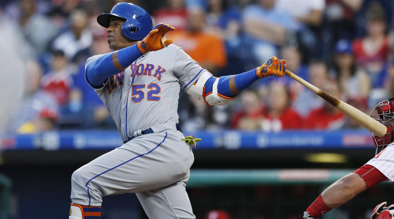 watch 1fa24 3d664 Yoenis Cespedes hits three monster home runs vs. Phillies ...