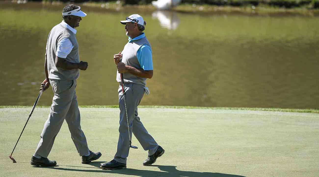 Carlos Franco and Vijay Singh finished at 15 under to win in Missouri.