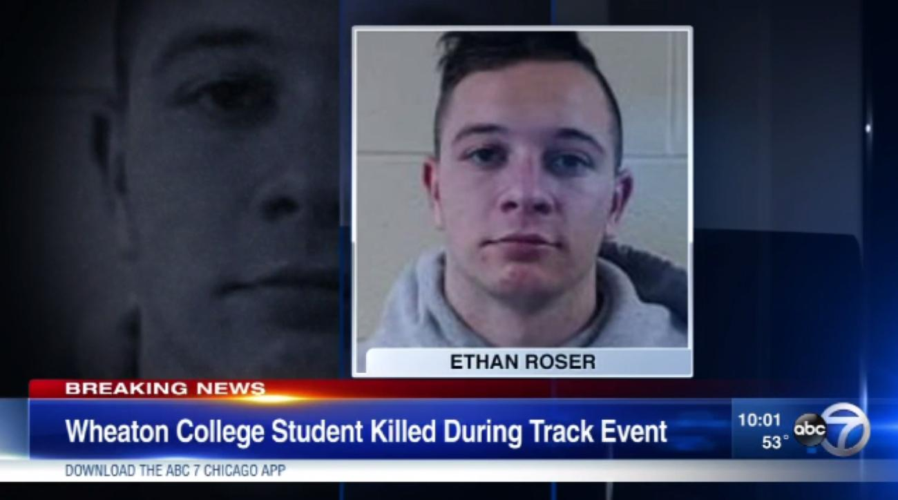 wheaton college student killed track meet