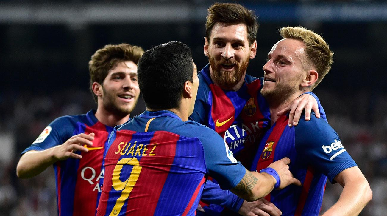 Messi scores in El Clasico for Barcelona
