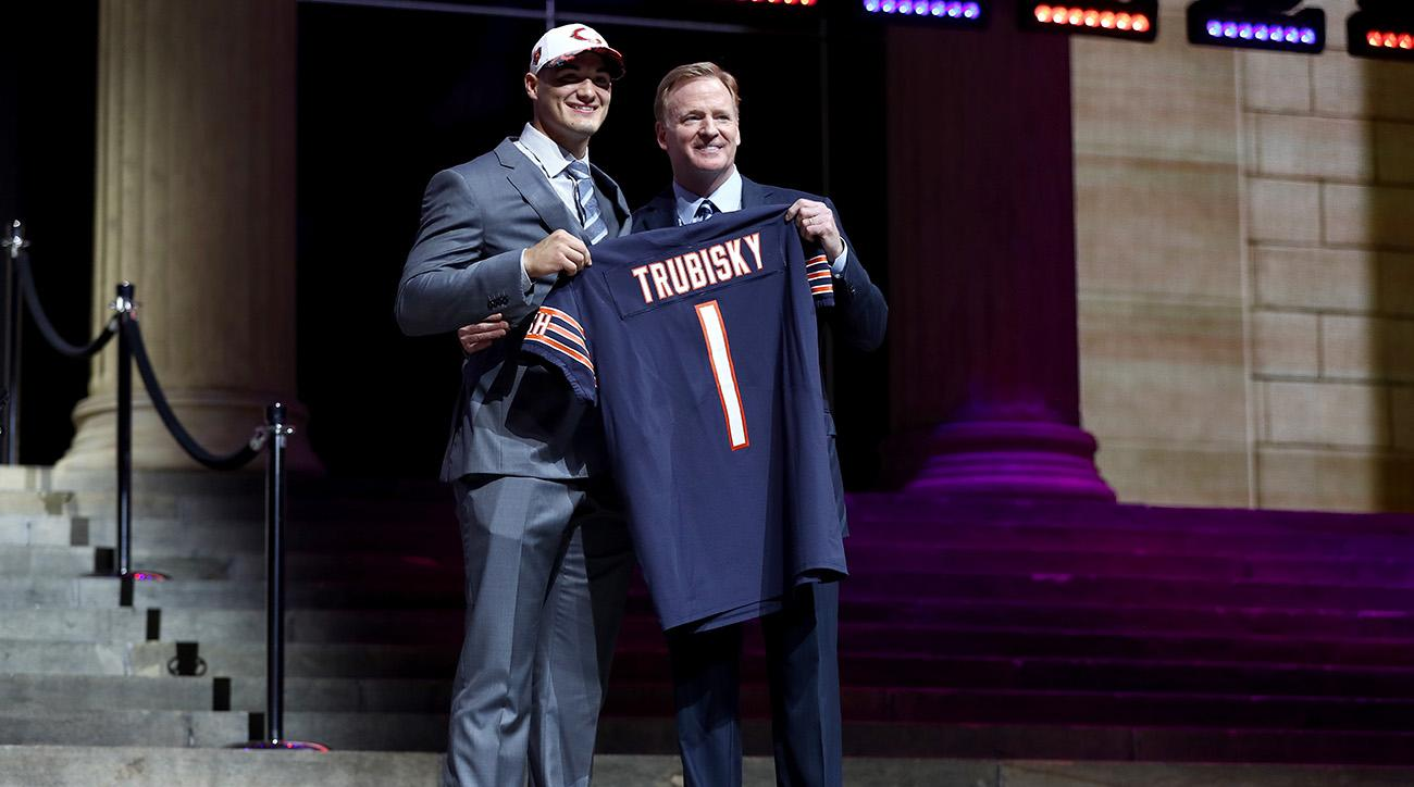 mitchell trubisky chicago bears fans react draft