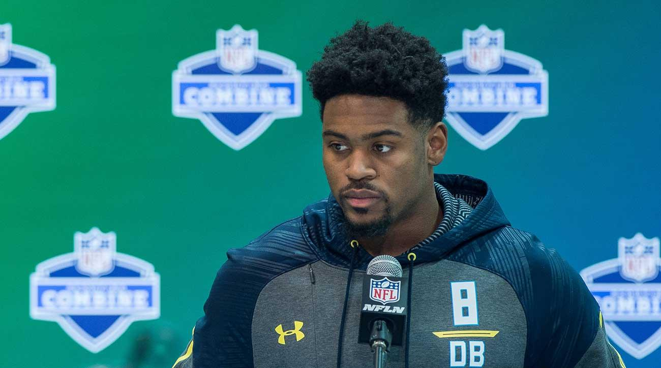 Gareon Conley at the combine.