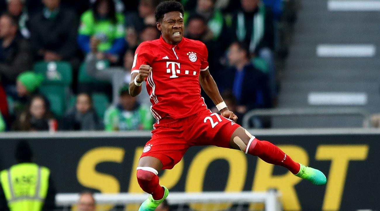 David Alaba scores a key goal for Bayern Munich in its title chase