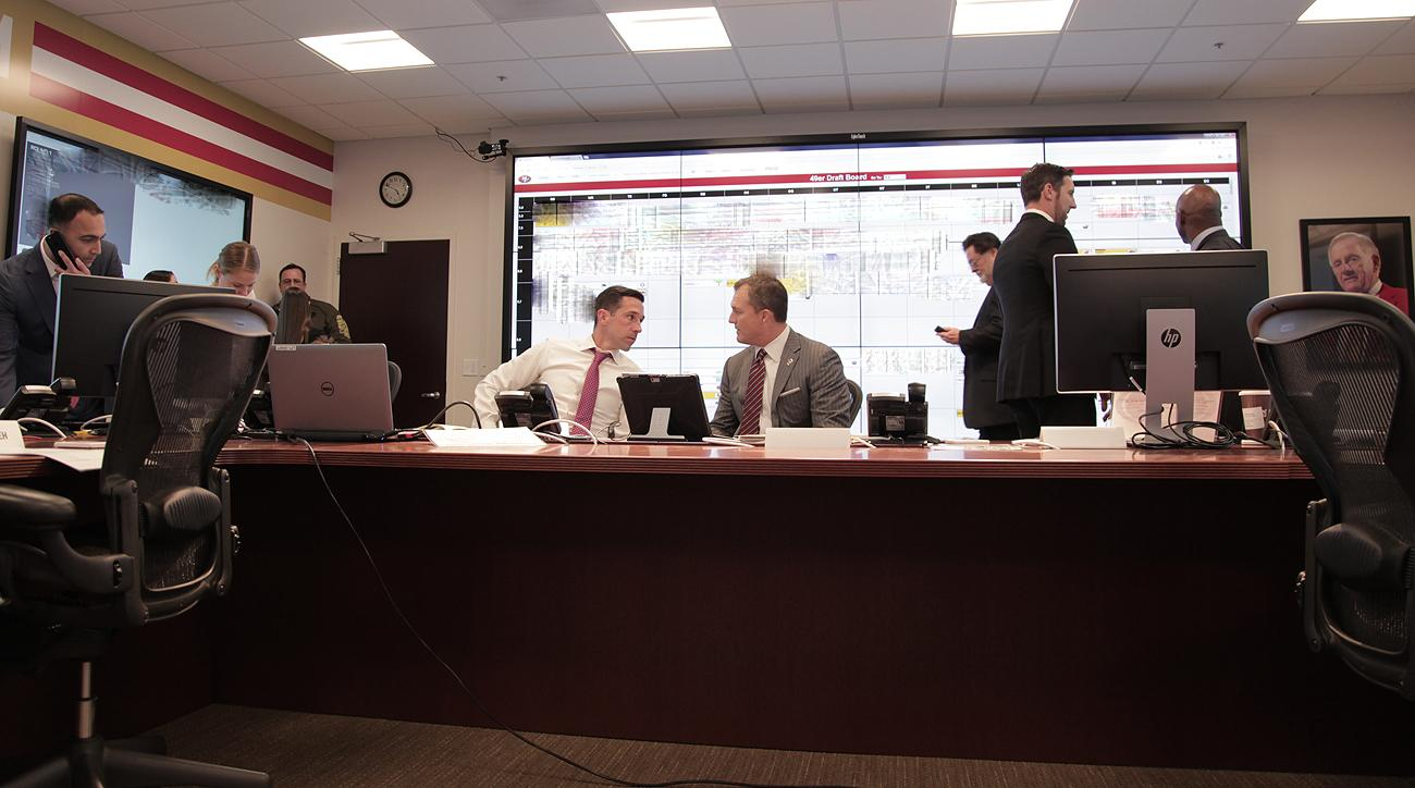 It was the first draft for 49ers head coach Kyle Shanahan (left) and GM John Lynch.