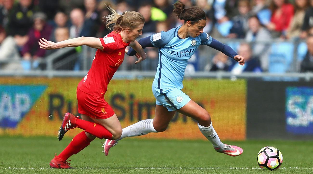 Carli Lloyd is with Manchester City Women on a short-term contract