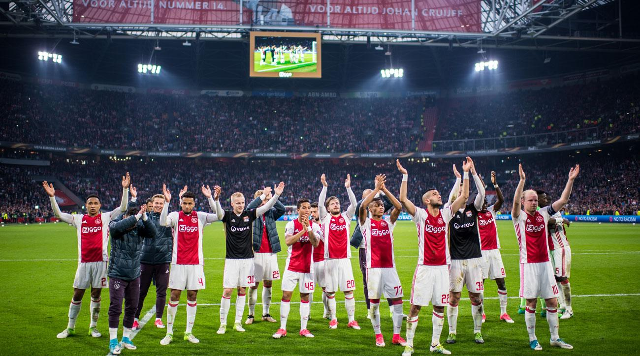 Ajax thrashes Lyon in the first leg of the Europa League semifinals