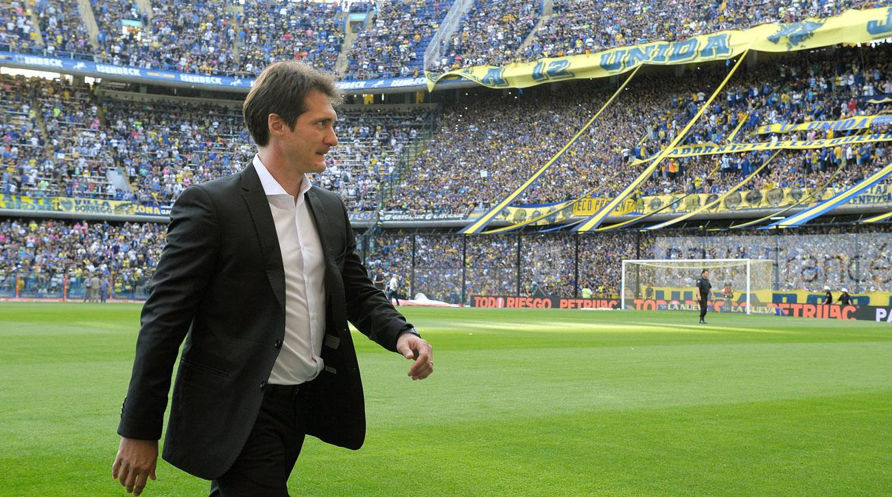 Guillermo Barros Schelotto is a candidate for the LAFC manager job