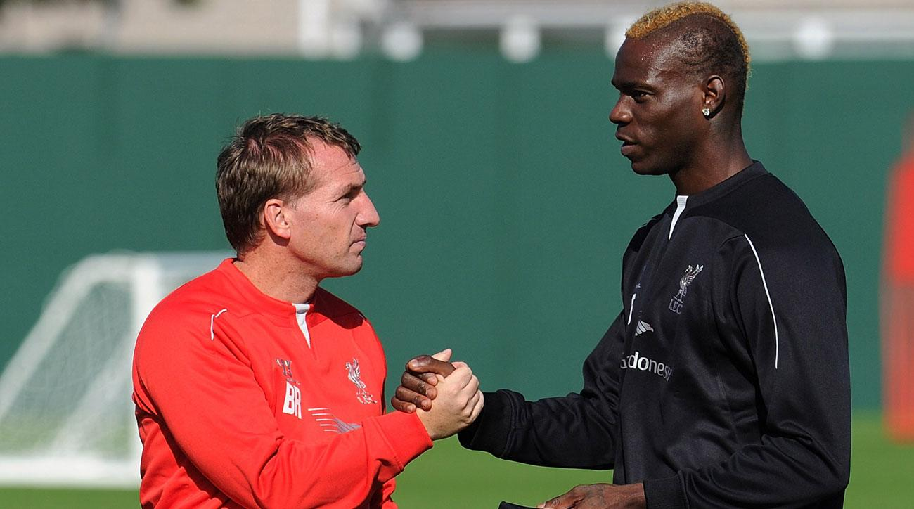 Brendan Rodgers and Mario Balotelli together at Liverpool in 2014