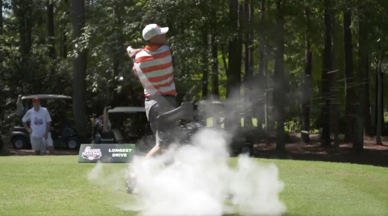 No one, not even national championship coaches, is safe from the exploding golf ball prank.